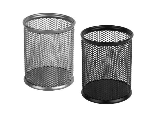 Стакан для ручек металл сетка круглый Клерк 183003/1016S435