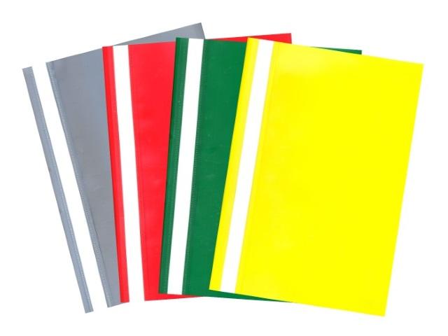 Скоросшиватель А4  цветной глянцевый Бюрократ PS20