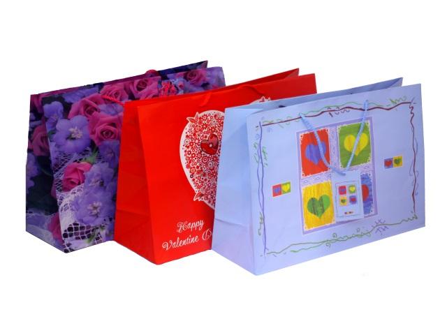 Пакет подарочный бумажный 38*26*13см Valentine day BG1932W