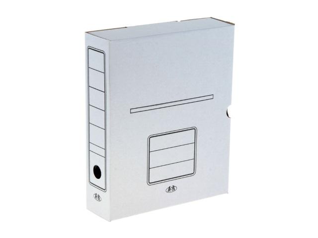 Папка архивная картон на резинке А4  7.5см белая ASR Бпр