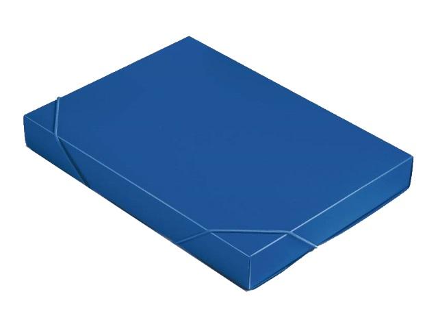 Папка архивная пластик на резинке А4  4см синяя Бюрократ 816206