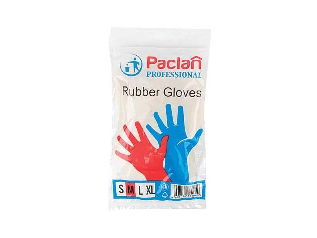 Перчатки резиновые Paclan размер М 139210