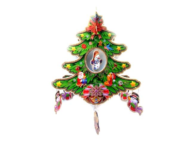 Новогодний декор Елочка 30*45см Новогодняя сказка 973355