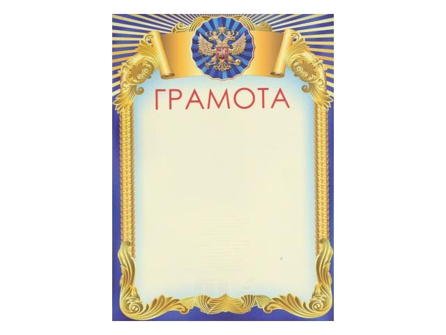 Грамота А4 желто-синяя WM 018000600