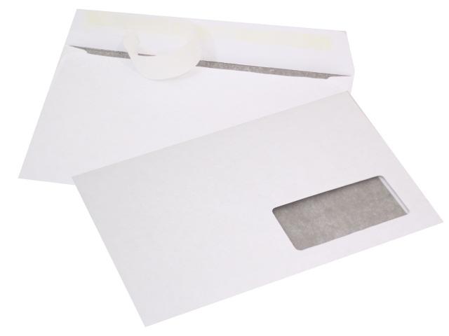 Конверт С5 СК (стрип) 16.2*23см 80г/м2 белый с отрывной лентой и окном WM 014000012