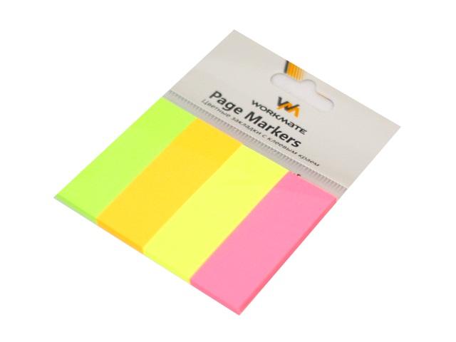 Стикер 20*50мм WM 160л 4 цвета по 40л неон 003007600