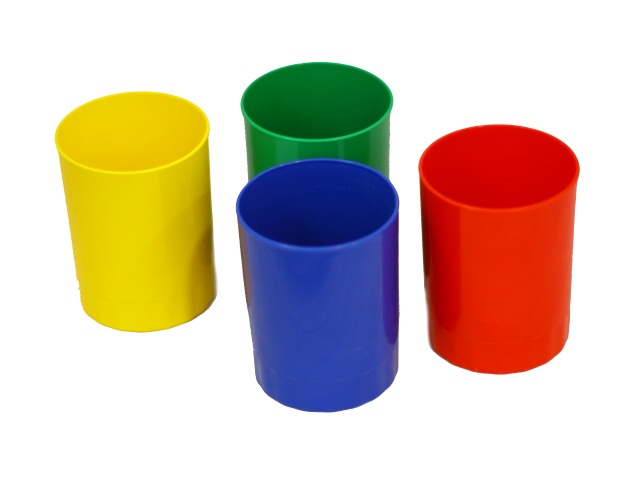Стакан для ручек пластик цветной круглый WM 045000600