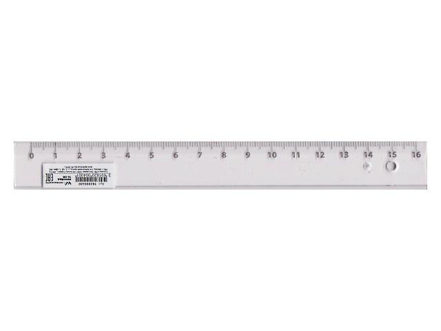 Линейка  16 см WM прозрачная 182000400