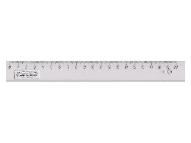 Линейка  20 см прозрачная WM 182000700