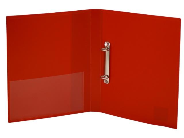 Папка 2 кольца А4 35мм d=25мм Бюрократ 0.7мм красная 0827/2RRED