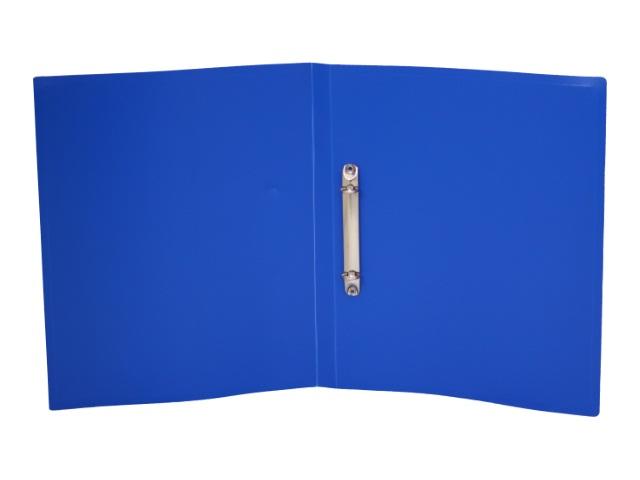 Папка 2 кольца А4 18мм d=16мм Бюрократ Economy 0.4мм синяя EC0418/2RBLUE