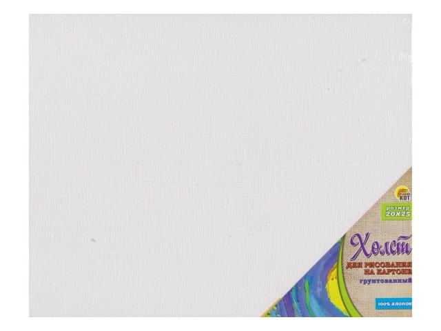 Холст 20*25см чистый для рисования на картоне Рыжий кот Х-9676