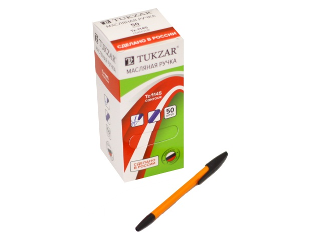Ручка масляная Tukzar 1145С-В черная 1мм