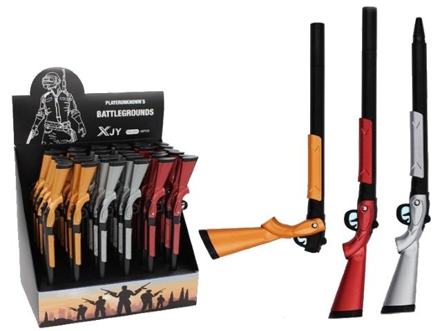 Ручка масляная детская Basir Gaming Ружье синяя 1мм К-98