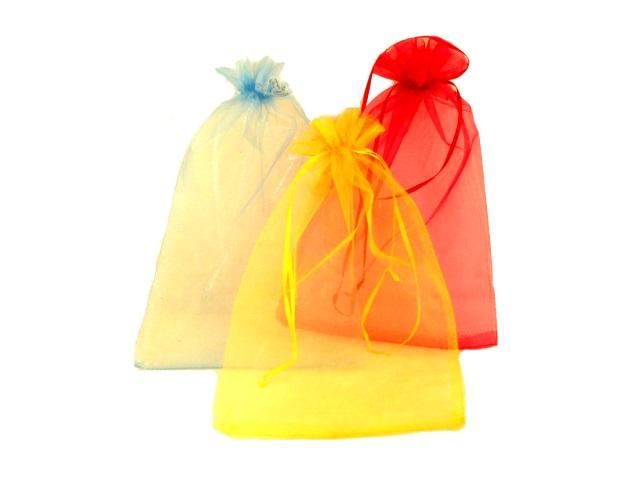 Мешок подарочный органза 20*30см цветной Basir МС-2384