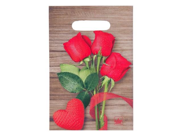 Пакет с прорезной ручкой 20*30см Розы Miland н00118189