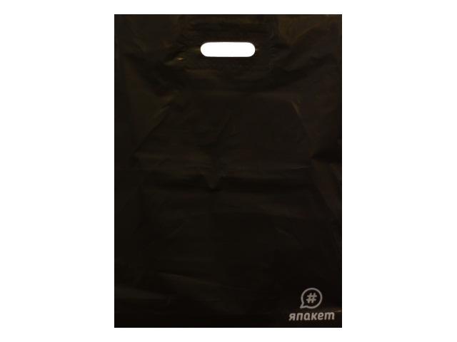 Пакет с прорезной ручкой 36.5*48см Асфальт Miland ПП-9505