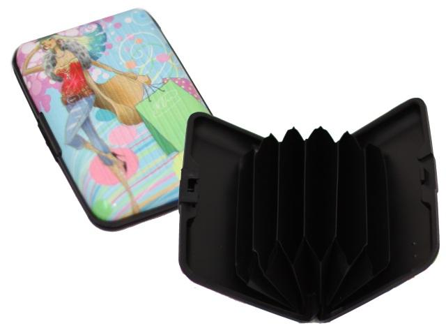 Визитница на   6 карт 7*11см пластик Modern ассорти Mazari М-4344