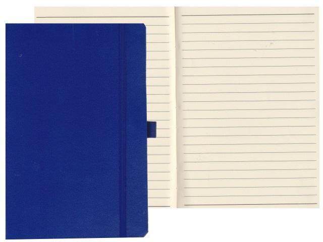 Записная книжка А5 на резинке бумвинил 72л линия Constant синий Mazari М-3645-70