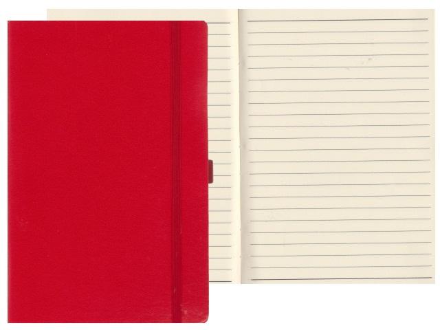 Записная книжка А5 на резинке бумвинил 72л линия Constant красный Mazari М-3645-72