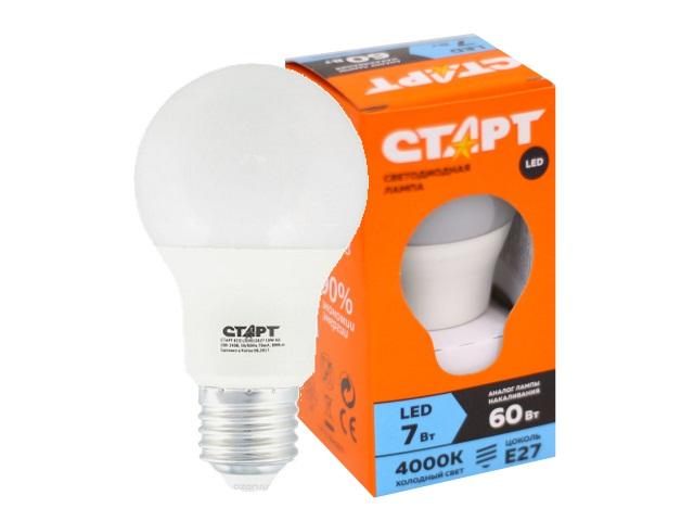 Лампа Есо Led Sphere E27 7W 4000К Старт 812085