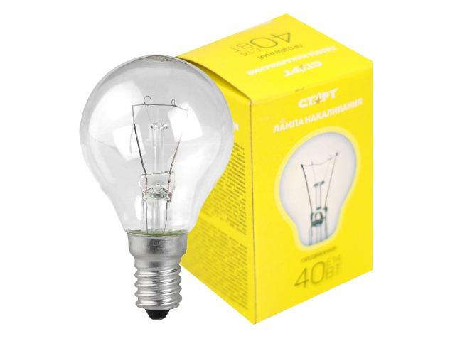 Лампа E14 40W ДШ Старт 850742