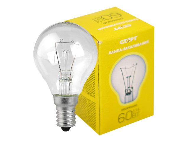 Лампа E14 60W ДШ Старт 850766