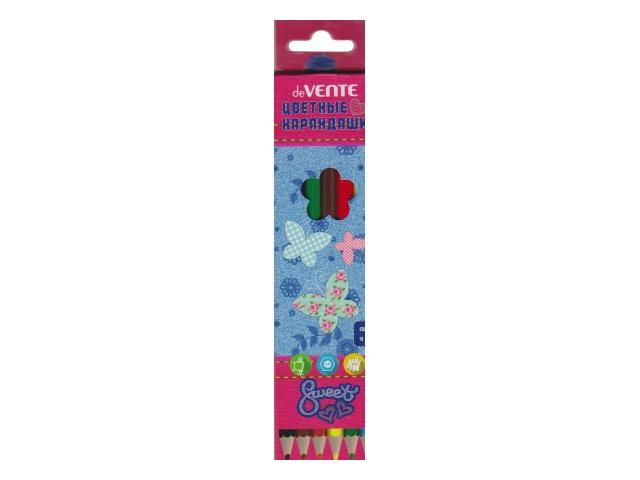 Карандаши цветные  6цв DeVente Sweet Jeans шестигранные 5021801