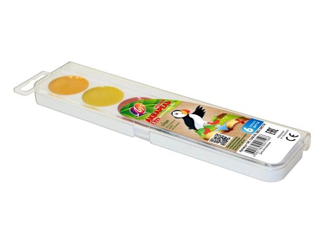 Краски акварельные медовые 6 цветов Мини Zoo, Луч 19С 1248-08