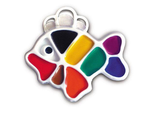 Краски  9 цветов акварель медовая Рыбка Луч 12С 828-08
