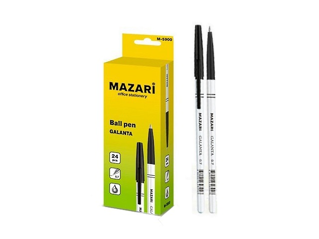 Ручка масляная Mazari Galanta черная 0.7мм М-5900-71