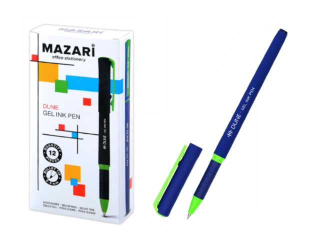 Ручка гелевая Mazari Dune синяя 0.5мм M-5544-70