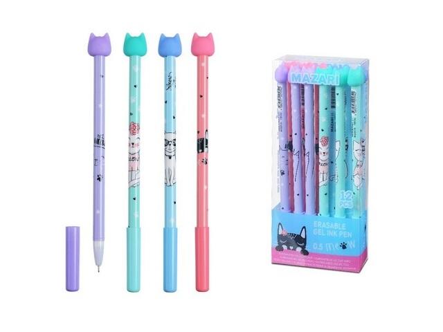 Ручка пиши-стирай Mazari Miao гелевая синяя 0.5мм М-5301-70