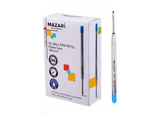 Стержень масляный 137мм Mazari синий 0.5мм М-7945-70