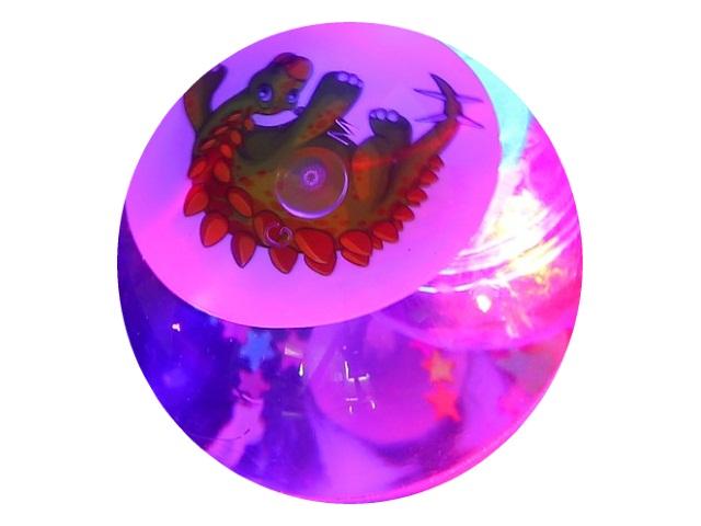 Мяч светящийся 6.5см Динозавр 635880