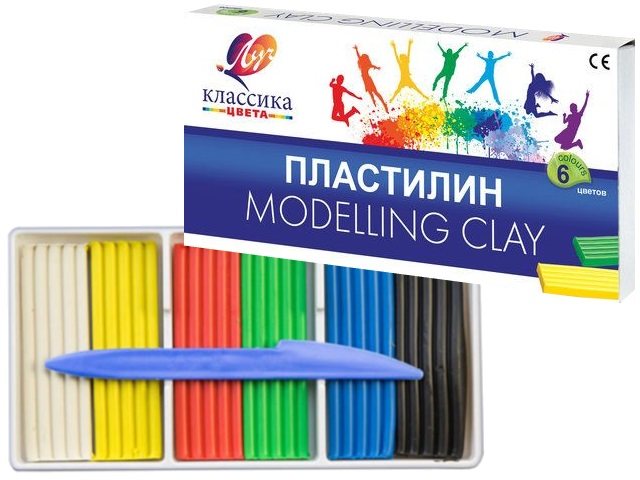 Пластилин  6 цветов Луч Классика 120г 12С 878-08