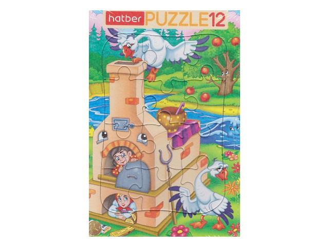 Пазлы в рамке 12 деталей Гуси-лебеди Hatber 12ПЗ4_18713