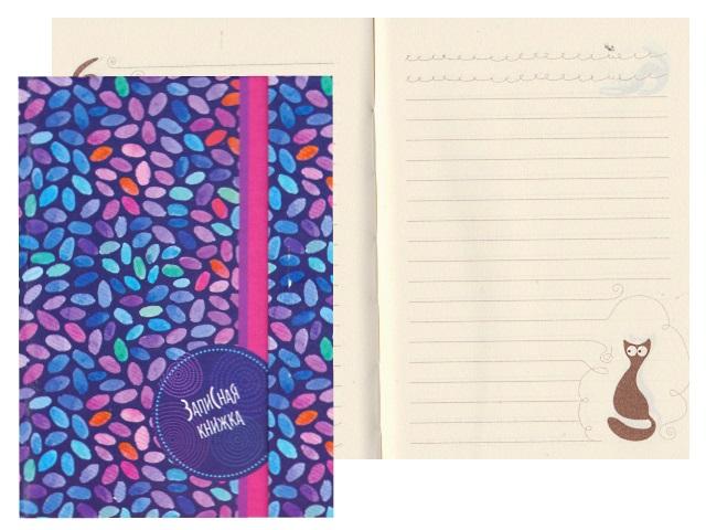 Записная книжка А6 на магните тв/переплёт 100л Разноцветная мозаика Plano С3352-03