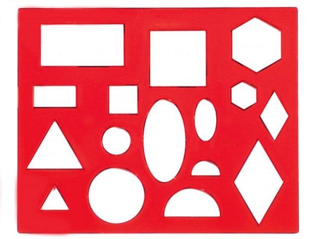 Трафарет геометрических фигур №1 Луч 12С 836-08 370177