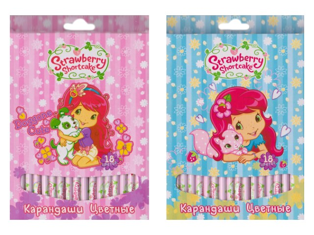 Карандаши цветные 18цв Strawberry Shortcake круглые SW-ACP205-18