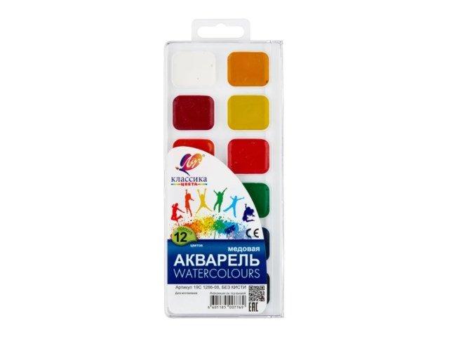 Краски 12 цветов акварель медовая Классика Луч 19С 1286-08