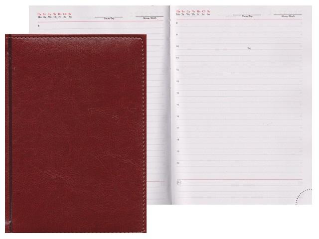 Ежедневник А5 кожзам 160л Venice коричневый Креатив-Ленд С0360-184