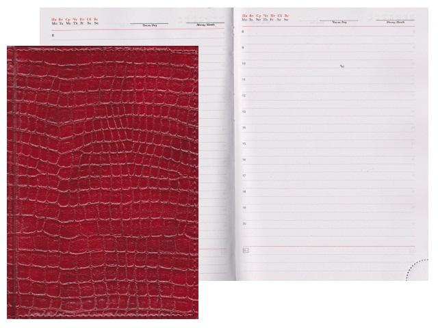 Ежедневник А5 кожзам 160л Lacio бордовый Креатив-Ленд С0360-195