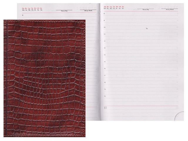 Ежедневник А5 кожзам 160л Lacio коричневый Креатив-Ленд С0360-196