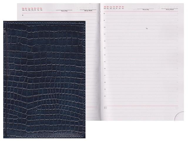 Ежедневник А5 кожзам 160л Lacio синий Креатив-Ленд С0360-194