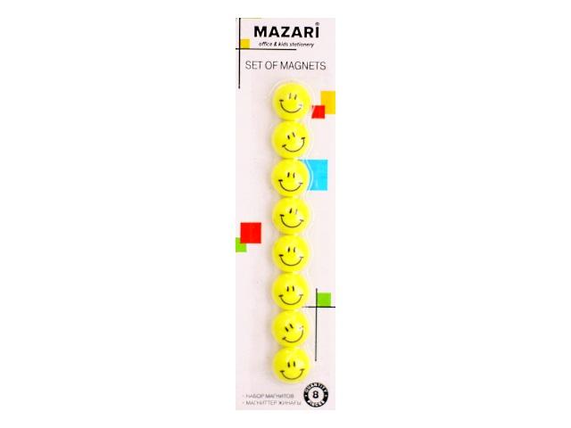 Магнит для досок Mazari D=20 мм  8 шт. круглый М-6370