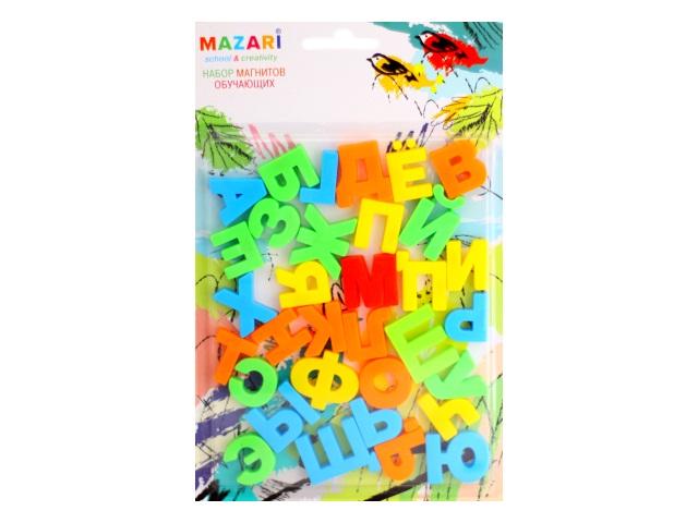 Магниты обучающие Русский алфавит 33 шт. Mazari М-6363