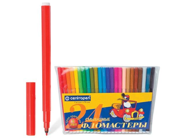 Фломастеры 24цв Centropen 7790/24 ТР