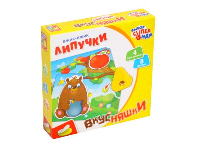 Настольная игра Вжик-вжик Липучки Вкусняшки Vladi Toys VT1302-18