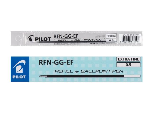 Стержень шариковый Pilot 111мм черный 0.5мм RFN-GG-EF В